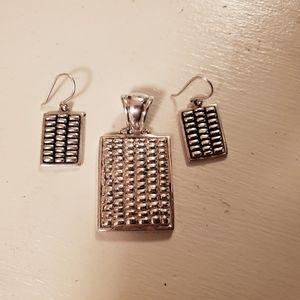 Silpada Earring & Pendant Set